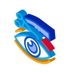Eyelid surgery tool isometric icon vector