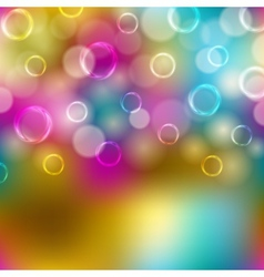 Festive background with bubbles bokeh vector image