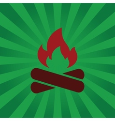 Fire symbol on background beams vector image
