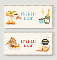 French cuisine traditional food vector