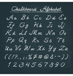 Hand drawn chalkboard alphabet vector
