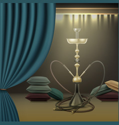 Hookah lounge interior vector