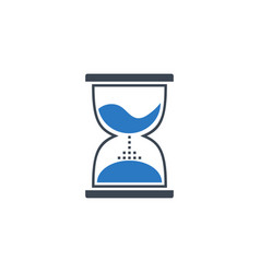 hourglass related glyph icon vector image