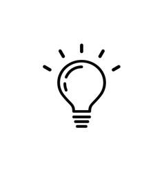 light bulb icon1 vector image