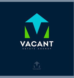 logo vacant estate agency rental property vector image