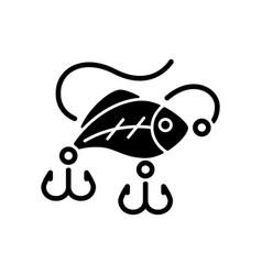 lures black glyph icon vector image