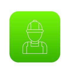 man mechanic icon green vector image