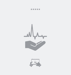 Medical services - minimal modern icon vector