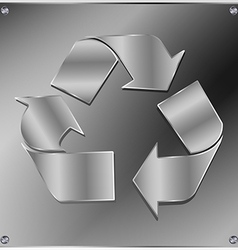 Metal recycle sign vector image