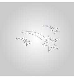 Meteor icon vector