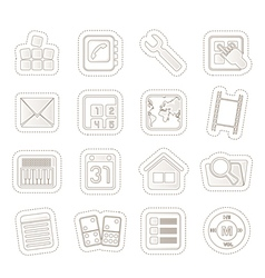 Mobile Phone and Computer icon vector image