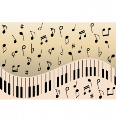 music notes piano vector image