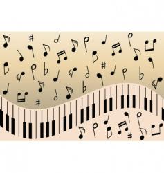 Music notes piano vector