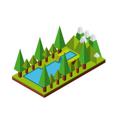nature in pixels design vector image