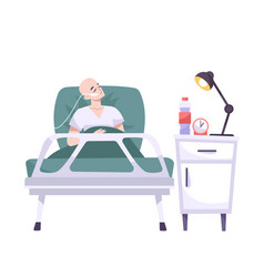 Patient on physiotherapy composition vector