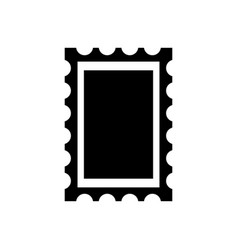 Post stamp frame icon vector