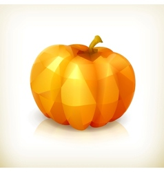 Pumpkin triangulation icon vector image