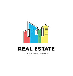 real estate building logo design vector image