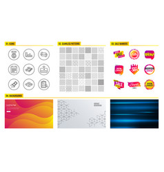 refresh mail keywords and fast payment icons vector image