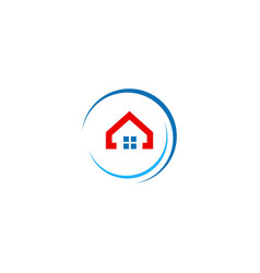 Round realty home company logo vector