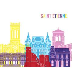 saint etienne skyline pop vector image