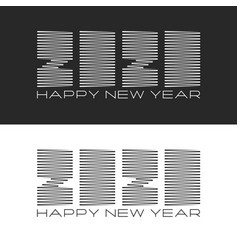set logo 2020 number and text happy new year vector image