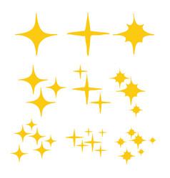Sparkles symbols handdrawn doodle style vector