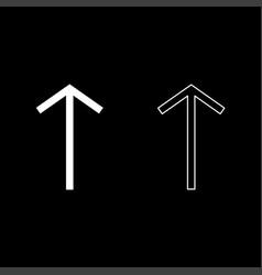 Teiwaz rune telwaz tyr warrior symbol icon set vector