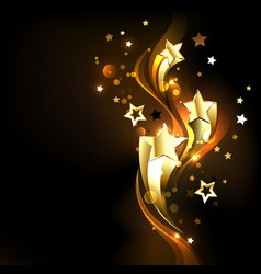 Three soaring gold stars vector
