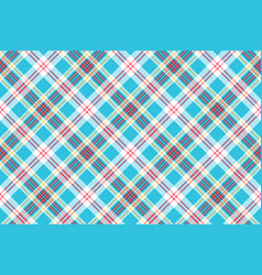 Turquoise plaid check fabric seamless pattern vector