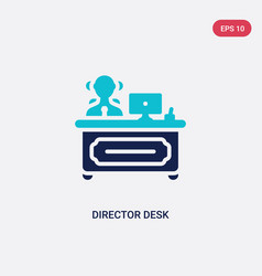 two color director desk icon from business vector image