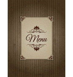 Vintage menu design vector