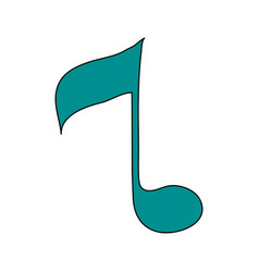 white background with sign eighth note vector image