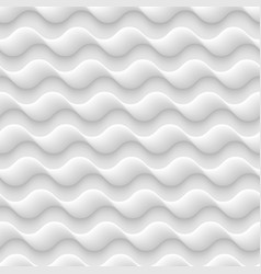 white seamless texturepattern abstract waves vector image