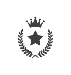 Winner star icon graphic design template vector