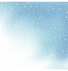 Winter day snow and cloud vector