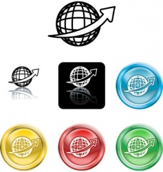 wire globe icons vector image