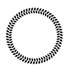 wreath ring of black leafs simple flat vector image