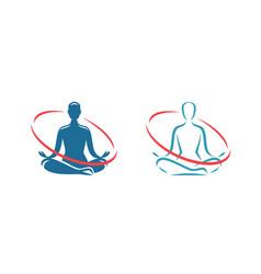 yoga logo health treatment spa meditation vector image