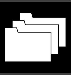 folders white color icon vector image vector image