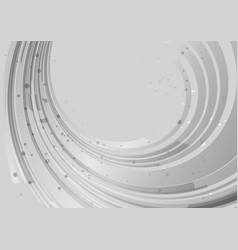 grey background rounded abstract element vector image vector image