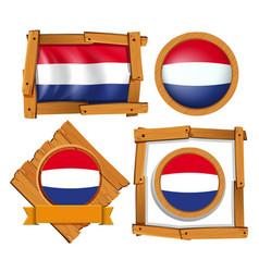 netherlands flag in different frames vector image