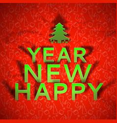 new year congratulate festive template vector image vector image