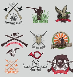 Set of the hunting labels and badges vector image