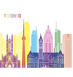 toronto v2 skyline pop vector image vector image