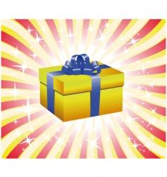 yellow gift box illustration vector image vector image