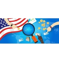 america usa united states economy financial vector image vector image