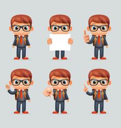 excellent student genius school clever smart boy vector image vector image