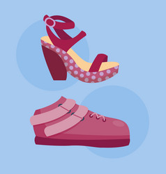 fashion sandals female multicolored isolated vector image vector image