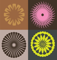 optical collection from round elements vector image